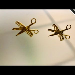 14k gold hair stylist earrings